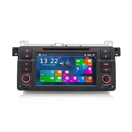 Erisin 7 Zoll Autoradio für BMW 3er E46 318 320 MG ZT Rover 75 Multimedia Player mit USB SD Navi Unterstützt Bluetooth 3G DVD DVR Lenkradfernbedienung Radio DTV