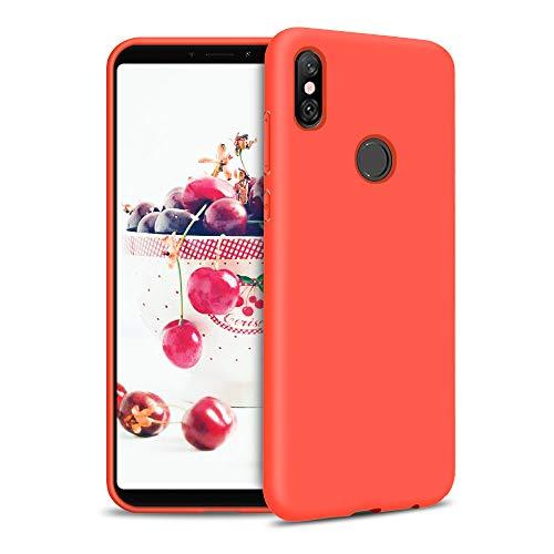 Funda para Xiaomi Redmi S2 Carcasa Silicona Xiaomi Redmi S2, Silicona Gel TPU Case Goma Colores del Caramelo Anti-Rasguño Resistente Ultra Suave Protectora Caso - Rojo