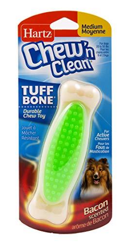 Hartz Chew 'n Clean Tuff Bone Bacon Scented Dental Dog Chew Toy - Medium