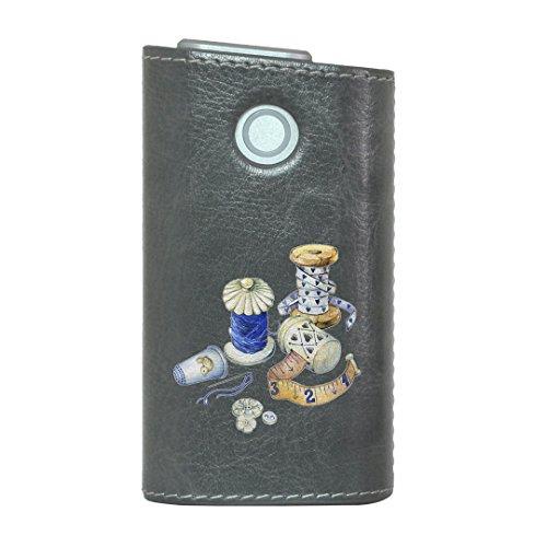 glo グロー グロウ 専用 レザーケース レザーカバー タバコ ケース カバー 合皮 ハードケース カバー 収納 デザイン 革 皮 GRAY グレー 裁縫 道具 014163