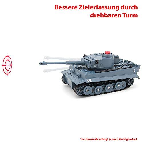 2.4GHz RC Ferngesteuerter Panzer German Tiger oder U.S. M41A3 Design Tank, Kettenfahrzeug mit Schusssimulation, Gefecht-, Demo- und Programmierfunktion, Komplett-Set