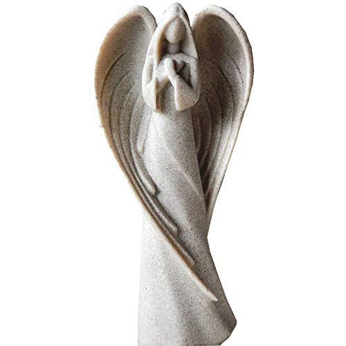 Ybzx Estatuas de ángeles para decoración del hogar, esculturas Decorativas de pie en oración, Inspiradoras para el Dormitorio de Las niñas, A