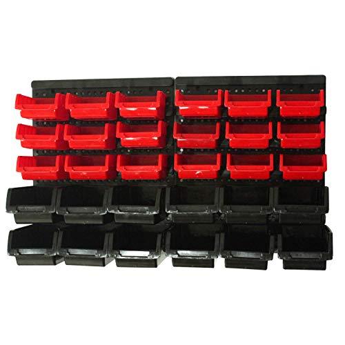 KCT 32 Pcs Wall Mount Storage Board Organiser Garage DIY Bin Panel Rack