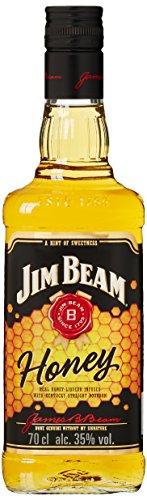 Jim Beam Honey – Bourbon Whiskey mit Honig-Likör, intensiver und süßer Geschmack, 32.5% Vol, 1 x 0,7l