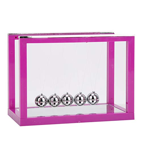 Practical Newton Cradle, Physics Toys, for Office Desk for Home Study(Purple)
