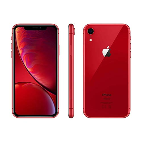 Apple iPhone XR, Fully Unlocked, 64 GB - Red (Renewed)
