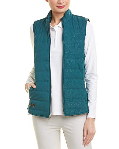 adidas Golf - Chaleco acolchado reversible para mujer, talla XL, color verde misterioso