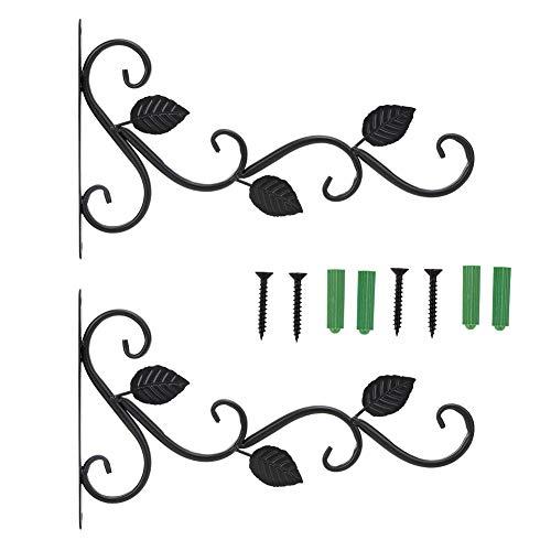 Felenny 2 Piezas Soporte de Planta Colgante Gancho de Suspensión de Hierro Montado en La Pared Macetas Decoración de Jardín Adorno Adecuado para La Pared de La Familia Salas de Estar