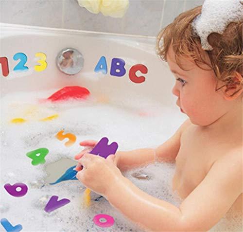 LILITRADE - Juguetes de Espuma para baño de bebé, 36 Piezas de números y Letras Rompecabezas de Juguetes de baño