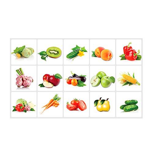 Asien Gemüse, Obst, Wandaufkleber Kreative Wandtattoo Küche Kinderzimmer Removable Gemüse Wand-Papier