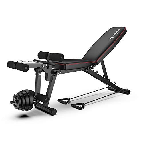 Hantel Hocker Falten, Verstellbare Hantelbank, Mit Beinstrecker Und Beinbeugung, Home Training Gym Gewichtheben Sit Up Ab Bank