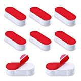 Toilet Seat Bumpers 8 Pack Universal Bidet Seat Spacers Attachment Replacement Stabilizers Strong Adhesive for WC Cover