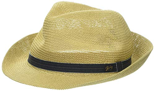 Bailey Elliott Trilby Hat, Beige (Natural), Large Homme