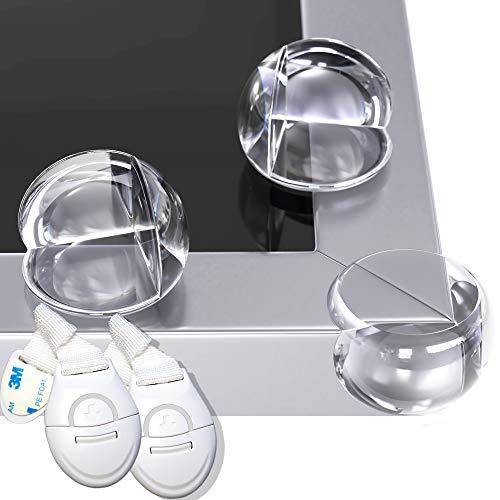 Paraspigoli per Bambini HAPPY CHLEA®, 12 Angolari Trasparenti Adesivi, Kit di Protezione e Sicurezza Casa con Proteggi Spigoli per Tavoli e Mobili + 2 Blocca Cassetti e 6 Adesivi Extra