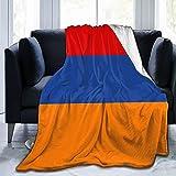 Flanelldecke mit Flagge von Armenien, flauschig, bequem, warm, leicht, weich, Überwurf für Sofa, Couch, Schlafzimmer