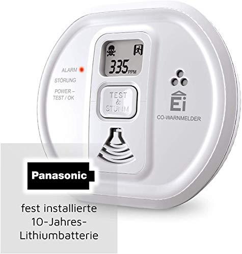 Ei Electronics Ei208D CO Kohlenmonoxidmelder (mit Display und 10-Jahres-Batterie)