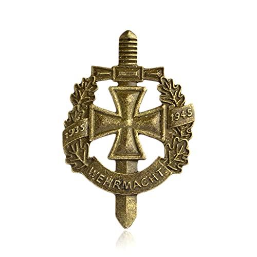 HCMA Pin de la Wehrmacht Militar del ejército alemán Vintage Bronce Antiguo Espada Pin Insignia Recuerdo Broche Regalo Hombres joyería