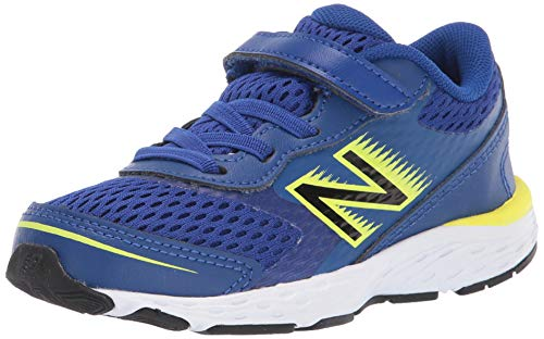 New Balance Kid's 680 V6 Alternative Closure Running Shoe, Marine Blue, 9.5 W US Toddler