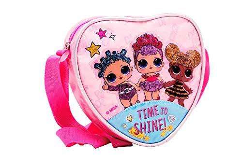 L O L Surprise! | Mädchen Exklusive Premium Herzform Umhängetasche | Entzückende Tasche | Kindermode Handtasche | Alles In Einem Einzigartige Kindertasche | Das Perfekte Geschenk! | 21 X 18.5 X 5 CM |