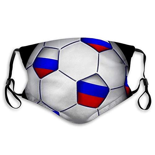 Mundschutz Gesichtsschutz Schal Bandana (2 Filter) Russischer Fußball