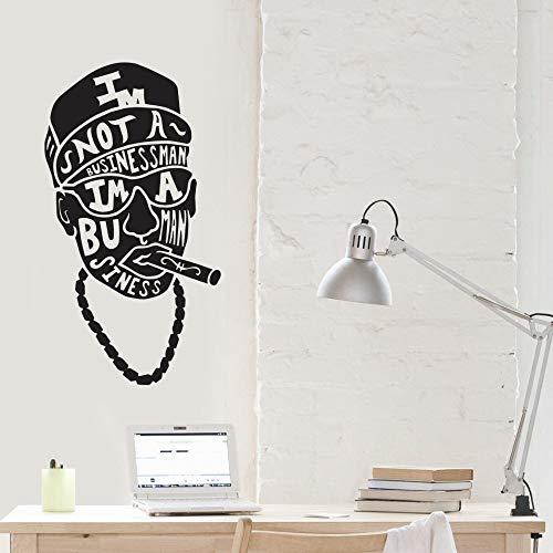 hetingyue Smoking Man Skull met aanleidingsteken Ik Bin niet verwijderbaar Art-Deco-Poster Wandbehang