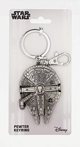 Disney Star Wars Millennium Falcon Pewter Key Ring,Silver ,Large