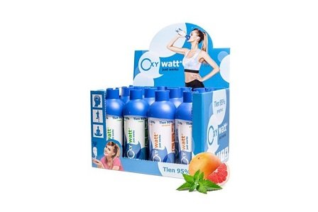 OXYwatt Unisex Adult Mix 95% Oxygen, Mint x 6 pcs, Grapefruit x 6pcs, 5 l