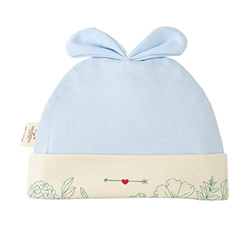 mlpnko Baby Hut Dünnschliff Baumwolle Neugeborenen männlichen und weiblichen Baby Hut 0-3 Monate Fetal Cap blau 40CM (1-3 Monate)