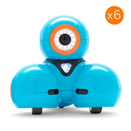 Wonder Workshop Dash Robot 6-Pack – Coding Robot for Kids 6+ – Voice Activated – Navigates Objects – 5 Free Programming STEM Apps – Creating Confident Digital Citizens