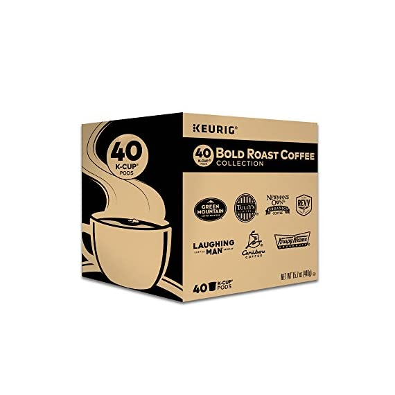 Keurig k-cup pod variety pack, single-serve coffee k-cup pods, amazon exclusive, 72 count 1 includes: 3 k-cup pods from 20 popular varieties, including green mountain coffee breakfast blend, the original donut shop regular, newman's own organic special blend, caribou coffee caribou blend, tully's coffee italian roast, and many more variety: sample different coffees and discover your favorites from a wide variety of roasts, flavors, and brands compatibility: contains authentic keurig k-cup pods, engineered for guaranteed quality and compatibility with all keurig k-cup coffee makers