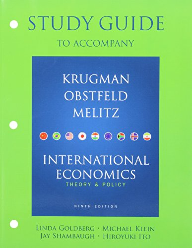Study Guide for International Economics: Theory and Policy
