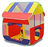 babygo playhouse foldable kids children's indoor outdoor pop up play tent house toy (Multi color)