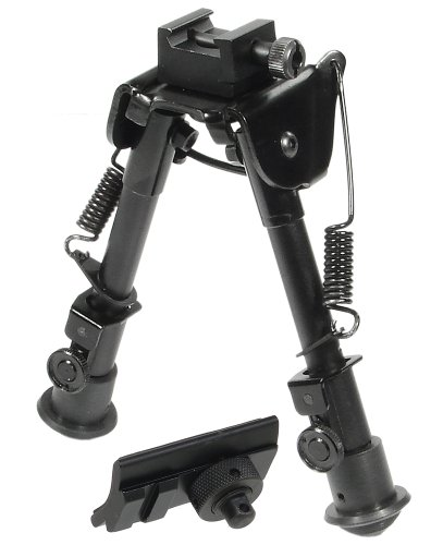 UTG Tactical OP Bipod, Rubber Feet, Center Height 6.1'-7.9'