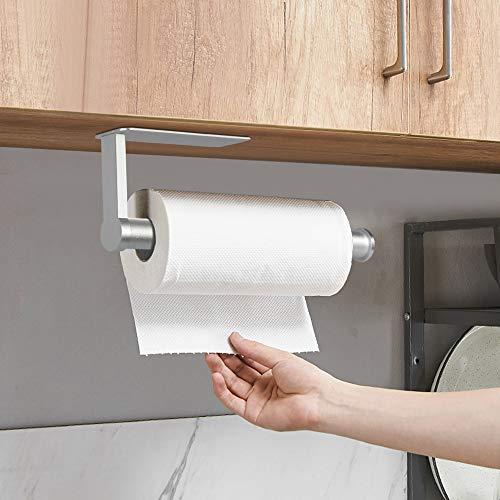 Jinhuaxin Portarotolo da Cucina, Adesivo sotto armadietto e da Parete, Porta rotoli per Cucina e Bagno Parete Cucina Porta Carta-27.5CM