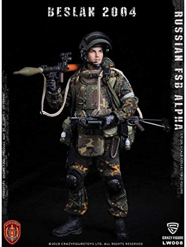 WSWJ 1/12 Scale Army Military Action Figure, 6 Inch Russian FSB ALPHA Flexible Male Soldier Model Collection Military Toys Play Set for Male Gift