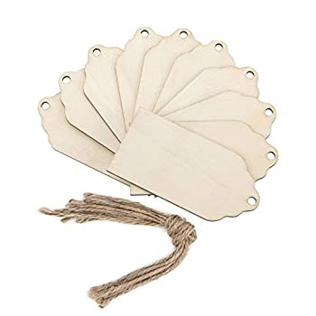 wooden tags with holes