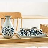 HJKL Vaso Whisky Botella de Cristal, Sake, Sake japones, Antiguo hogar de cerámica Cocción a Alta Temperatura del Proceso unificado de Porcelana