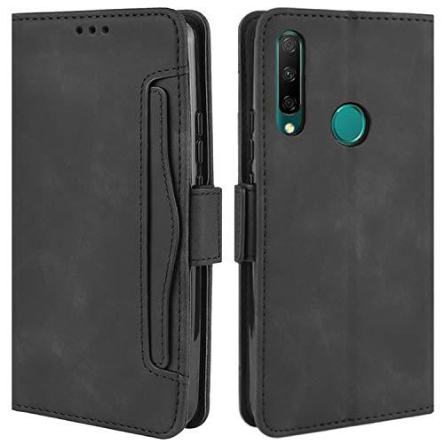 HualuBro Handyhülle für Huawei Honor 9X Hülle Leder, Flip Hülle Cover Stoßfest Klapphülle Handytasche Schutzhülle für Huawei Honor 9X Tasche (Schwarz)