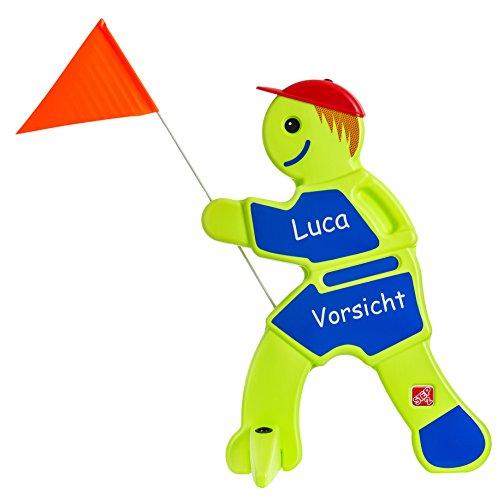UvV Bobby Brems, Achtung spielende Kinder - Kind Schild Warnschild Spielplatz Spielstraße (Warnpuppe für Spielstraßen, Kita, Spielplätze)