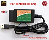 ELM327 OBD Tool, ELM 327 USB OBDII Escáner de Diagnóstico-ELM327 Interfaz USB OBD2 ELM327 OBDII Dispositivo de Autodiagnóstico