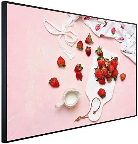 Ecowelle Infrarotheizung mit Bild | 900 Watt | 100x60x2cm | Infrarot Heizung| | Made in Germany | c 119 Erdbeere