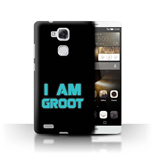 Hülle Für Huawei Ascend Mate7 Comic Wächter Inspiriert Retro I Am Groot Design Transparent Ultra Dünn Klar Hart Schutz Handyhülle Case