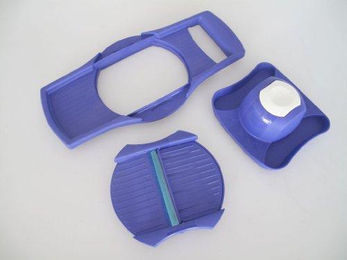 TUPPERWARE Küchenhelfer Reibe CombiPlus Multi-Reibe lila-blau P18 Multi-Reibe