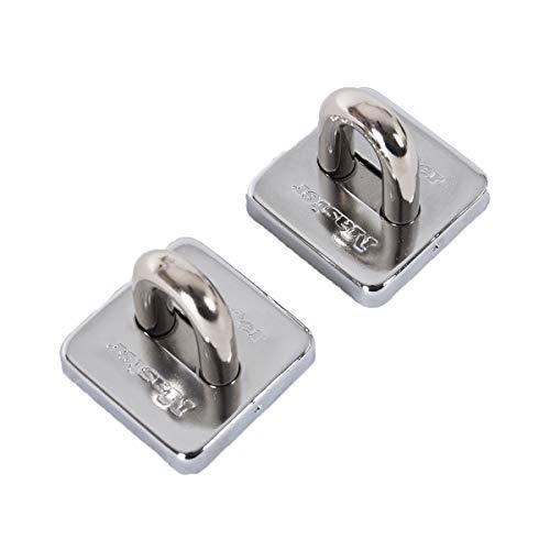 Master Lock 8222EURT Anclaje antirrobo de Pared o Suelo, Gris, 5,3x5,3 cm, Paquete de 2, 53 mm