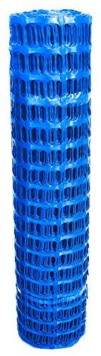 UvV Absperrzaun Fangzaun blau, Rolle 50 Meter, 1 m hoch, Absperrnetz, Maschenzaun, Bauzaun Rolle Kunststoff Extra Reissfest, 150 gr (7,5 kg)