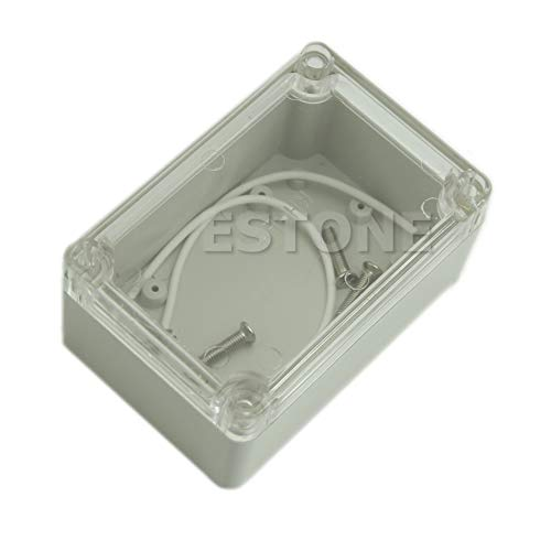 ZZALLL Kunststoff wasserdichte Abdeckung Klare elektronische Projektbox Gehäuse Gehäuse 100x68x50mm