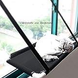 Cicony Hamac à Suspendre pour Chat avec fenêtre + Couverture pour Chat, Ventouse pour Animal Domestique, lit à Suspendre et...