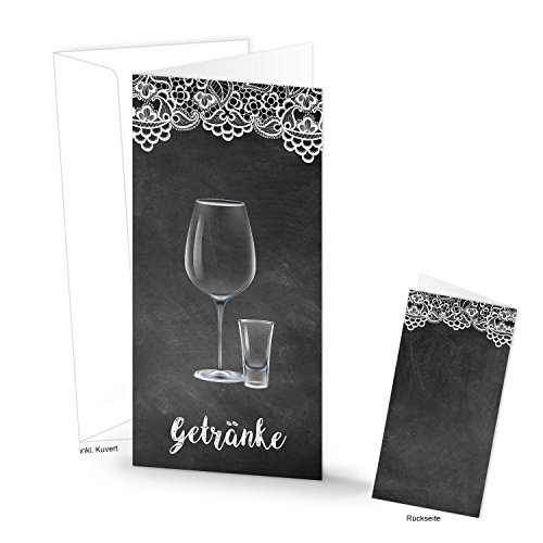 10 stuks punten, zwart en wit, kaarten, bar, dranken, bedrukbaar, tafeldecoratie, bruiloft, feest, evenement, kaarten om neer te zetten, tafelstandaard