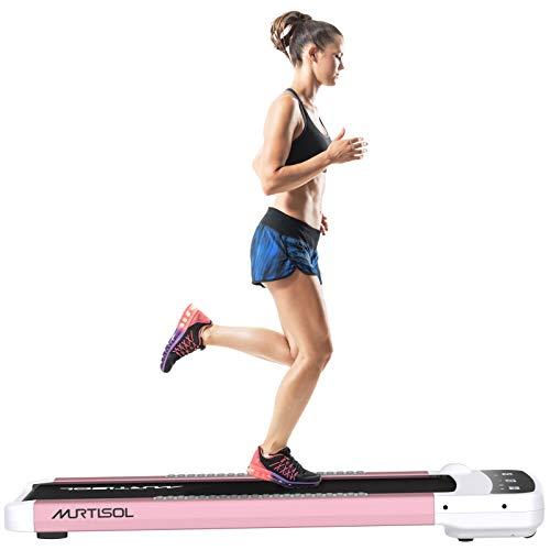 Murtisol Under Desk Treadmill Portable Flat Walking Machine...