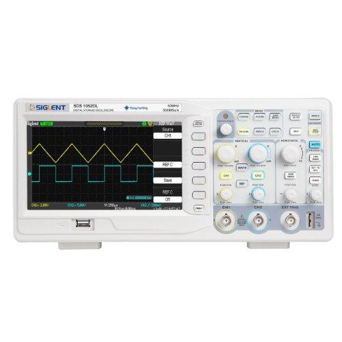 Siglent SDS1052DL- Osciloscopio digital de 2canales con pantalla de 7 pulgadas TFT LCD, 50MHz, 100-240V